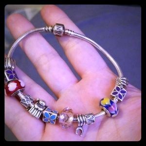 Pandora Charm Braclet and 10 charms